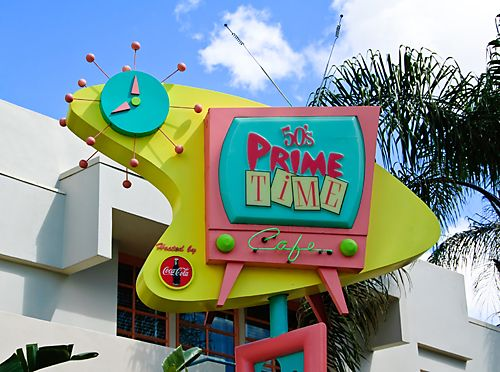 We loved dining here.  In Disney Hollywood Studios park.: Walt Disney, Time Cafe, Disney World, Disney Dining, Prime Time, 50S Prime, Hollywood Studios, Cafe K-Cup, 50 S Prime