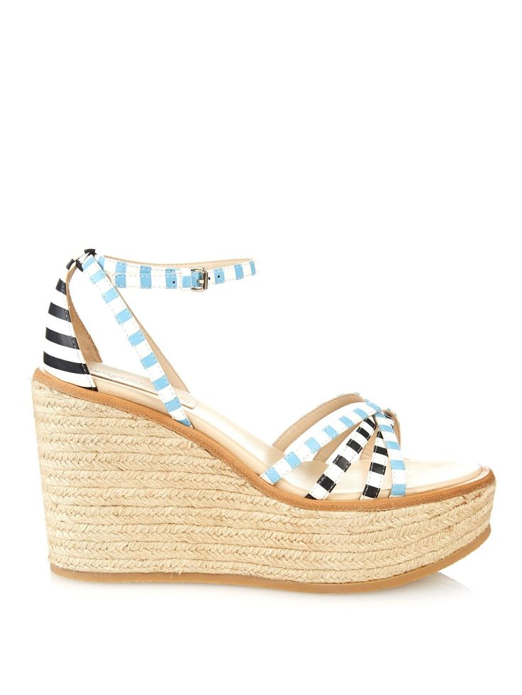 Striped leather espadrille wedges | See By Chloé | MATCHESFASHION.COM UK