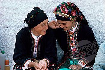 Olimbos, Karpathos, Greece women in traditional dress