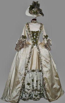 "TRAJES DE EPOCA: Vestido ""a la Francesa"" S: XVIII (tallas 36 a la 4...      gelpep@gmail.com"