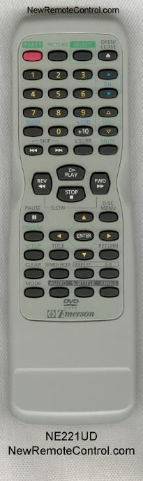 EMERSON TV/DVD COMBO REMOTE CONTROL NE221UD