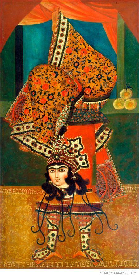 Acrobat women in Qajar dynasty, Iran (Persia)