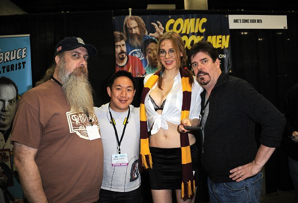Maitland Ward with AMC'c Comicbook Men attend Day 1 of the Third Annual Stan Lee's Comikaze Expo held at Los Angeles Convention Center on October 31, 2014 in Los Angeles, California.