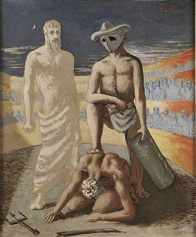 Giorgio de Chirico, Gladiatori nell'arena.