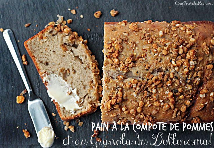 Mes recettes du Dollorama : pain à la compote de pomme et au granola - Cinq Fourchettes