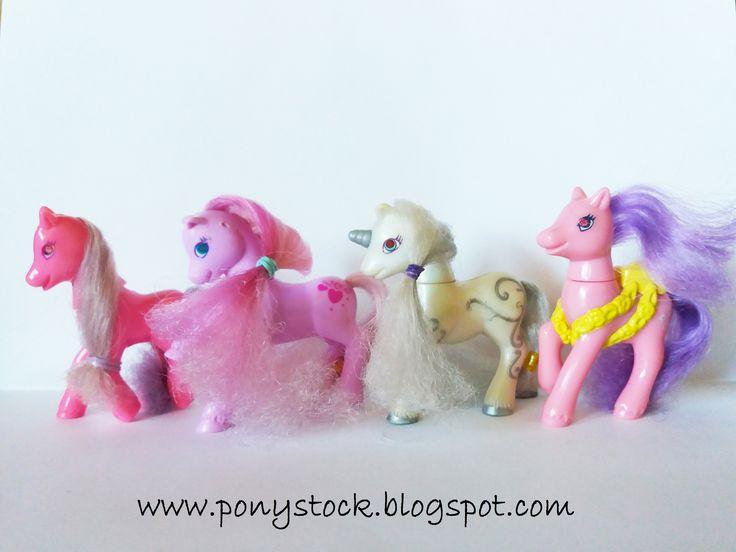 Sundance, Sweet Berry, Silver Swirl, Morrning Glory My Little Pony Generation 2 1999 Hasbro Happy Meal McDonald's