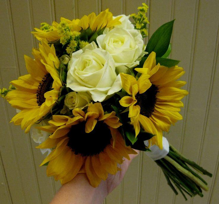 sunflower wedding flowers   sunflower wedding bouquets
