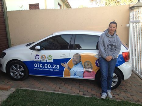 "Tracey: ""driving around with OLX South Africa and everyone that has seen my car has either used or knows of OLX... just sell it, very easy to use."""