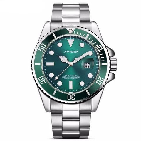 Fashion Luxury Men's  Stainless Steel Band With Date Display  Waterproof Luminous pointer   For Him Gift ideas guys dad Luxury Fashion Affordable Stainless Steel Black Watches For Men Products Shops stores links website For Sale online Shopping buy AuhaShop.com