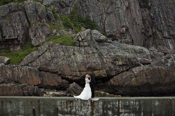 Love this!! Real Weddings: Danielle & Joseph's Newfoundland Elopement | Intimate Weddings - Small Wedding Blog - DIY Wedding Ideas for Small and Intimate Weddings - Real Small Weddings