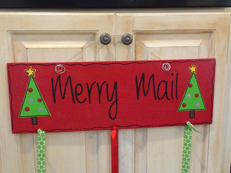 Merry Mail Christmas Card Holder by ASouthernCreation on Etsy https://www.etsy.com/listing/211766627/merry-mail-christmas-card-holder