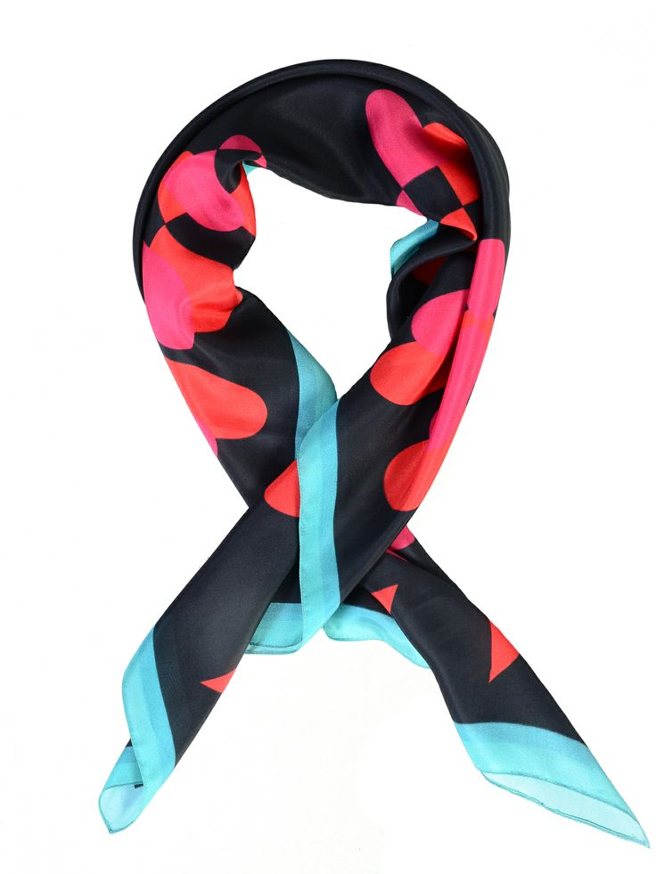 silk scarf red and black www.ciprian-vrabie.com