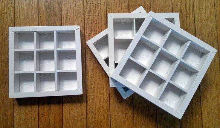 Box Cokelat isi 9  (3x3)