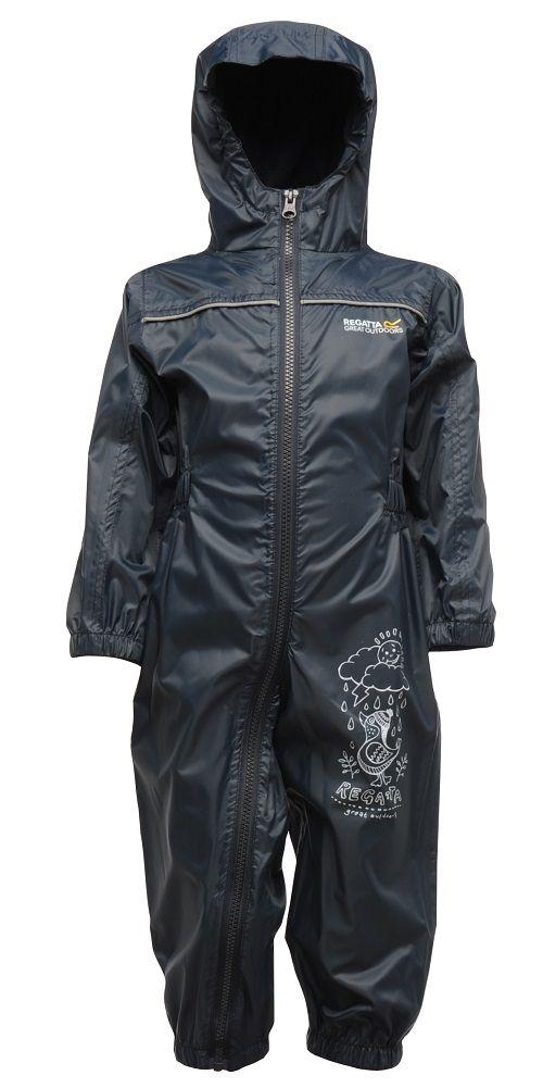Kinderregenpak Puddle, navy blauw, ademend en lichtgewicht €32.50