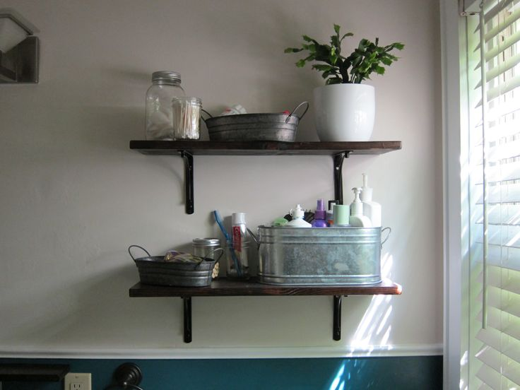 Charming Bathroom Shelves | Finally Installed Some Shelves In The Bathroom . I Think  They Look .