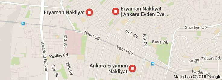Map of eryaman nakliyatwww.canbabanakliyat.com
