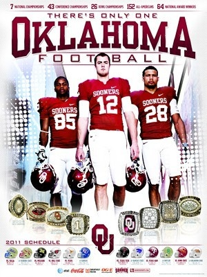 #University of Oklahoma football poster and schedule.  #Travel Oklahoma USA multicityworldtravel.com We cover the world over 220 countries, 26 languages and 120 currencies Hotel and Flight deals.guarantee the best price