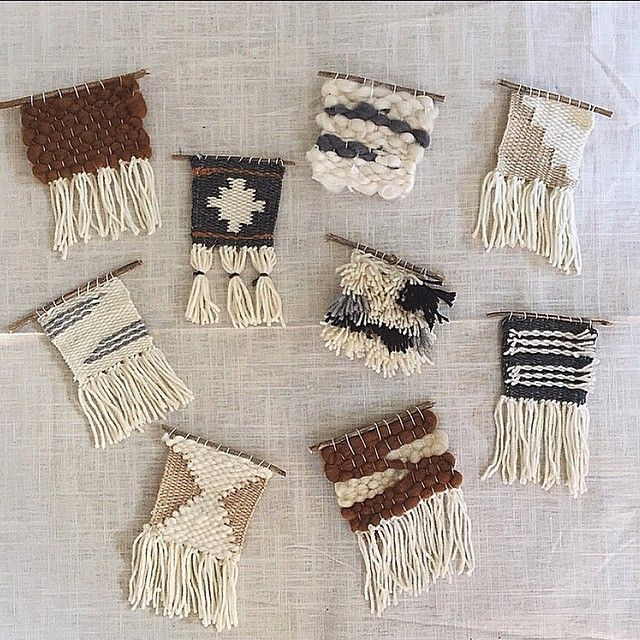 Working on lil mini weavings as promotional items for an upcoming event. #weaving #tapestry #wovenwallhanging