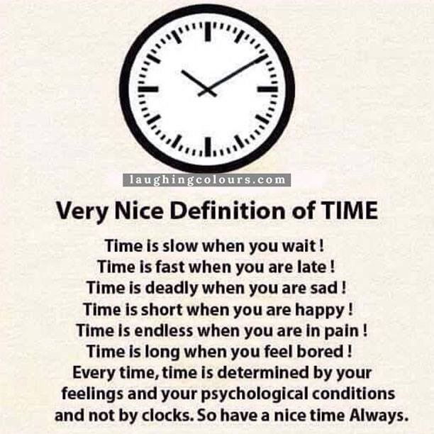 Repost : #QOTD - Very Nice Definition Of TIME