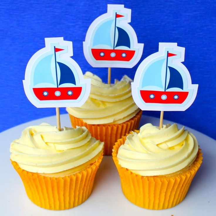 Sailing Cupcake Toppers - 6 Pack