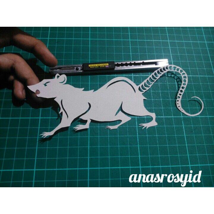 #rat #papercut