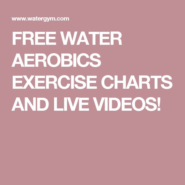 FREE WATER AEROBICS EXERCISE CHARTS AND LIVE VIDEOS!