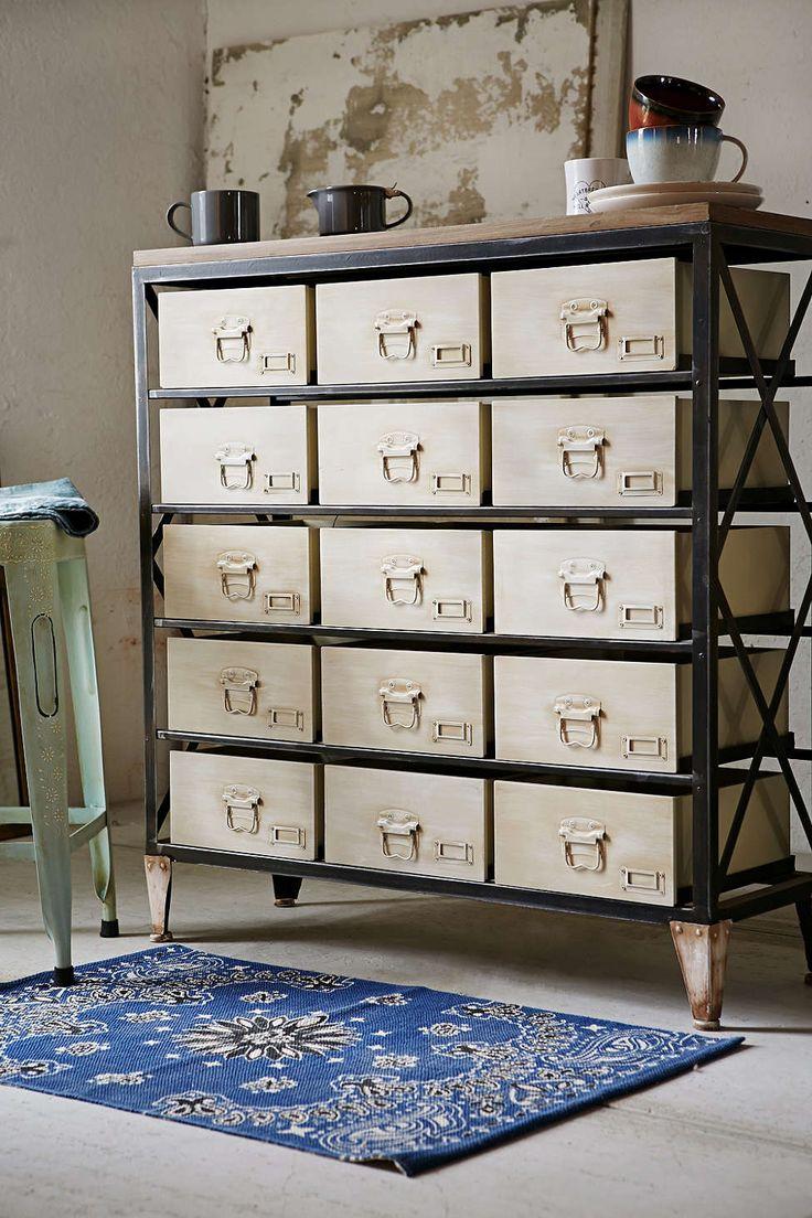 best 25 industrial storage ideas on pinterest industrial shelves bedroom shelves and boys. Black Bedroom Furniture Sets. Home Design Ideas