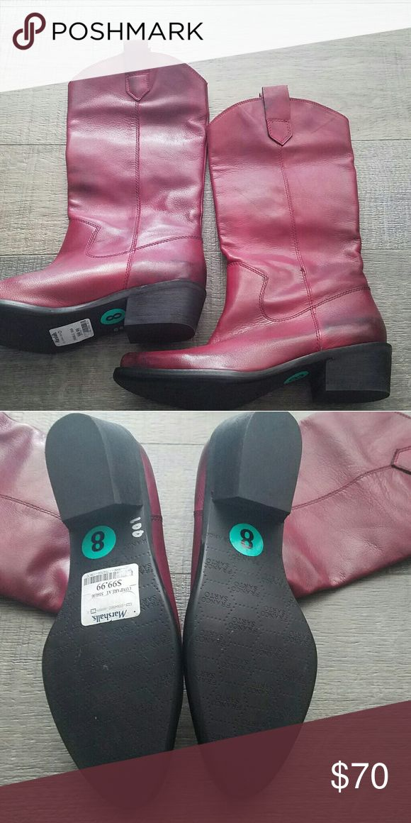 Brand NEW never worn Franco sarto red cowboy boots Leather bottoms size 8 never worn Franco Sarto Shoes Heeled Boots