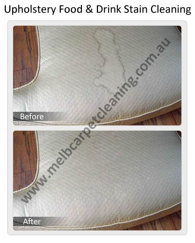 Upholstery Food and Drink Stain Cleaning by Melbourne Carpet Cleaning