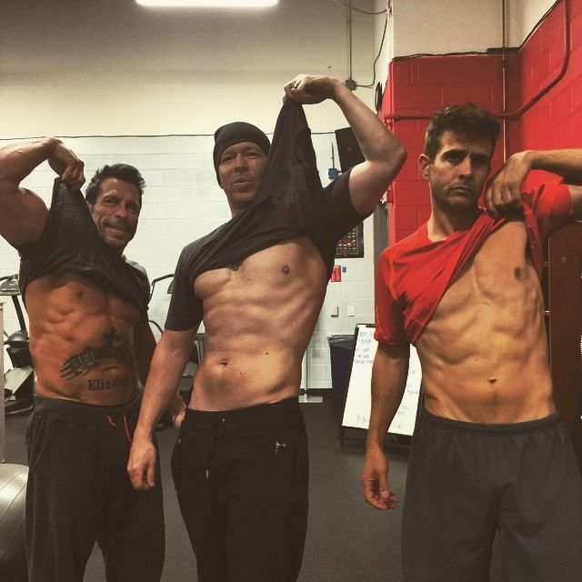 Not bad for old men New Kids On The Block #JoeyMcIntyre #DonnieWahlberg #DannyWood