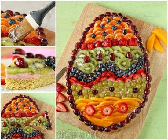 Easter Egg Fresh Fruit Pizza