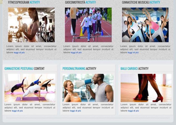Centro Fitness home page parte seconda.Studio