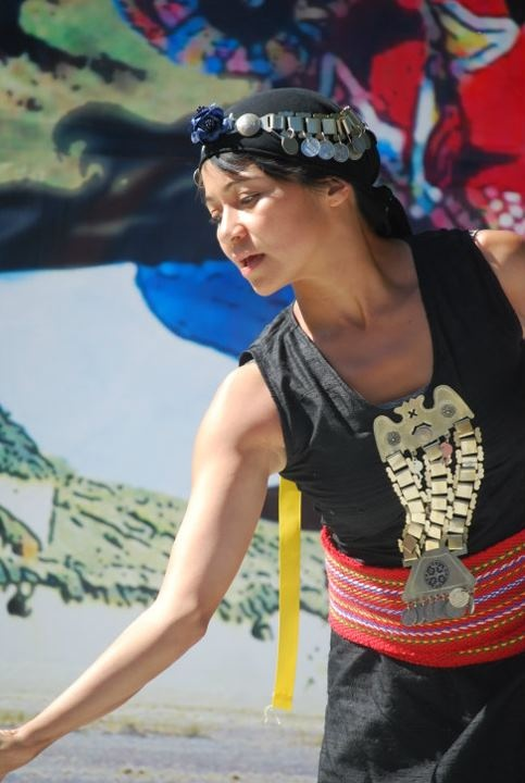 Mapuche dancer