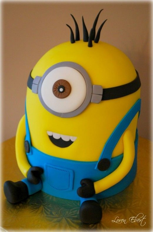 How to make a minion cake. Despicable me is a great film and kids will love this cake.