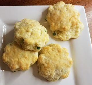 Garlic Scape and White Cheddar Biscuits