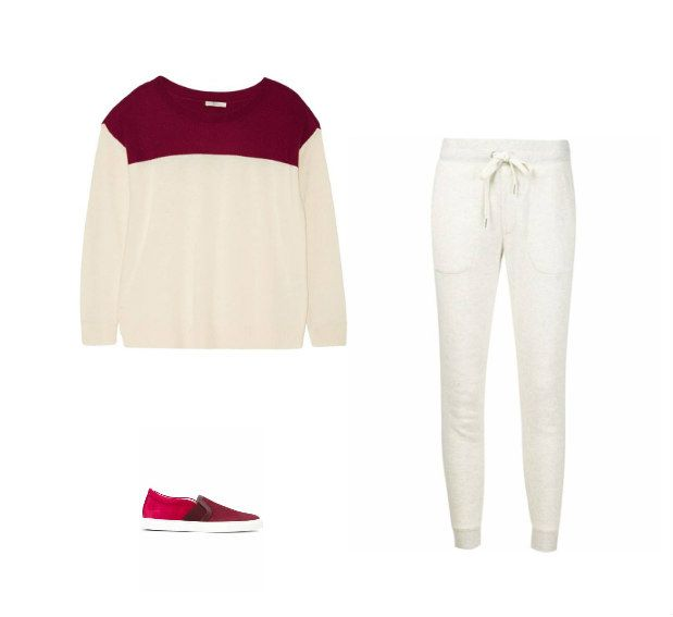 Casual Monday: Joie sweater, Max'N'Chester track pants, Lanvin slipons