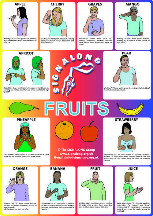 signalong.org.uk shop catalog images FRUITS.jpg #signlanguagebasics