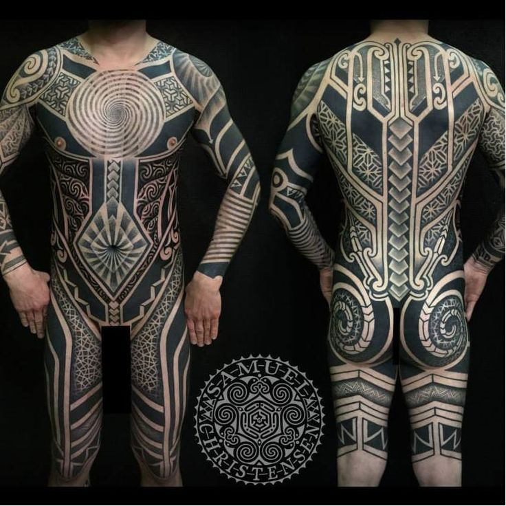 Maori Body Art: Blackwork Bodysuit By Samuel Christensen