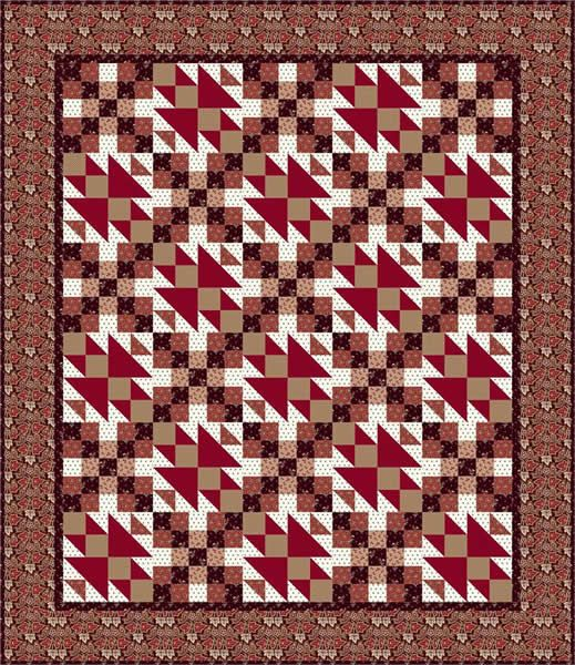 Marching Home Quilt Pattern TL-11 (lap, throw, twin, double, queen, king)