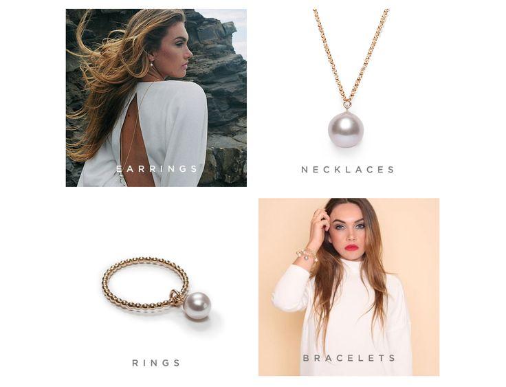 Ikke stil, men oppsett; fire bilder  Ecommerce Website Design - Ora Pearls