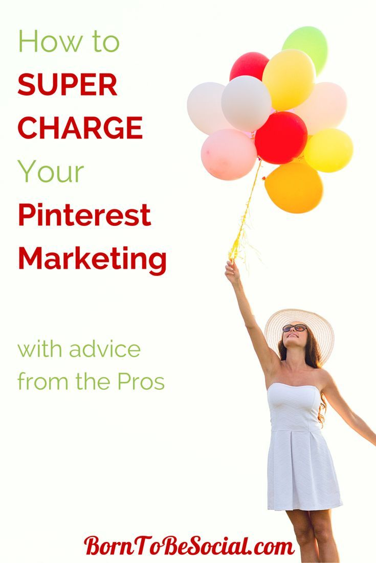SUPERCHARGE YOUR PINTEREST MARKETING WITH ADVICE FROM THE PROS - Looking to shake up your Pinterest marketing strategy? Want to drive more traffic to your website through Pinterest? Here's some valuable advice from the Pros on what, how and when to post on Pinterest to supercharge your Pinterest marketing. | via #BornToBeSocial