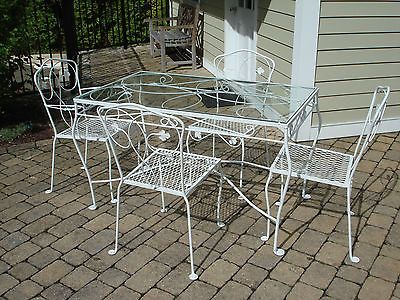Wrought Iron Patio Table And 4 Chairs 1326 best vintage wrought iron patio furniture images on pinterest