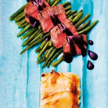 Lammytterfilé med getostgratäng - Recept - Tasteline.com