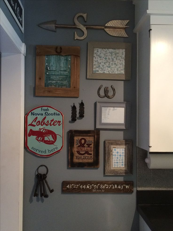 Small kitchen gallery wall