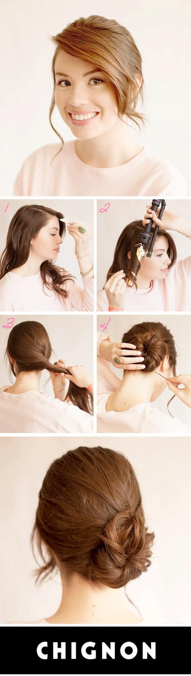 Prom Hairstyles: Messy Chignon Updo Hair Tutorial | BeautyHigh.com