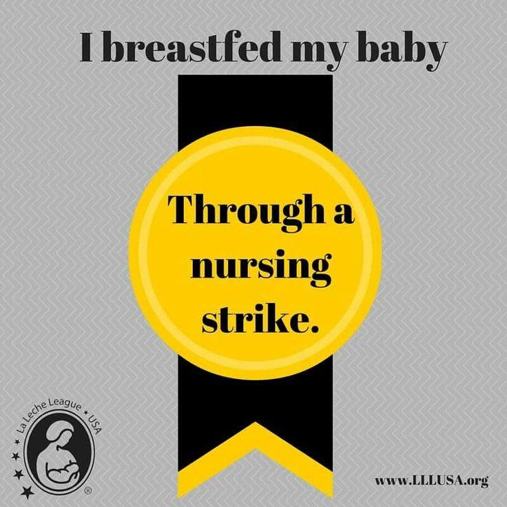 LLL breastfeeding badge: nursing strike