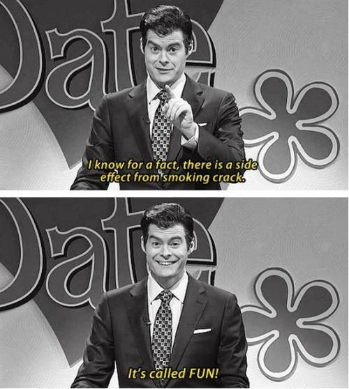 Saturday Night Live, I love bill hader.... for those who've commented, I didn't even write that.I repin without lookin.
