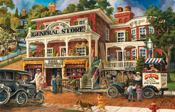 Fannie Mae's General Store - 1000 pieces. Released 2012.Sunsout puzzles are 100% made in the USAEco-friendly soy-based inksRecycled boardsNot sold in mass-market stores