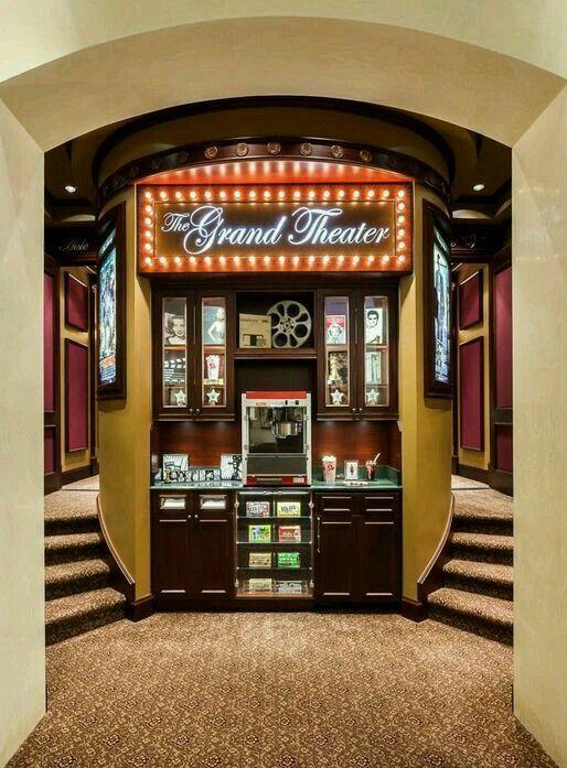 Home Theater Snack Bar Hometheaterdecor