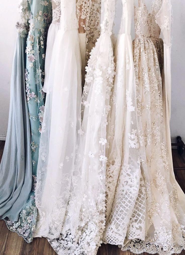 Tonal lace wedding dresses